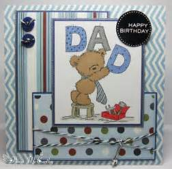handmade cards for dads birthday handmade by fiona mccarthy my s birthday card