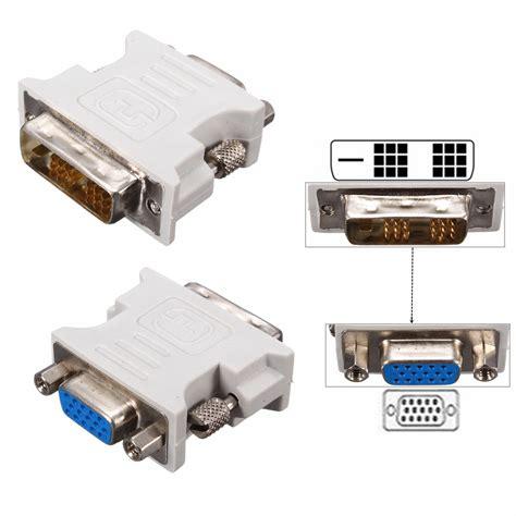 Adapter Vga 15 Pin Ke Dvi I 24 5 Pin Gray T3010 1 dvi d 18 1 dual link to vga 15 pin adapter converter for pc laptop ebay