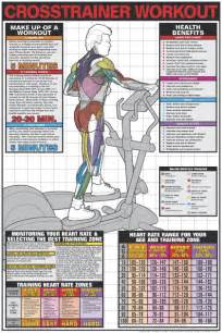 Men s elliptical running machine fitness center gym wall chart poster