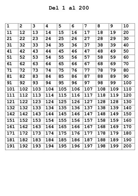 Las Taiyo Grid 240 400 numeros 1 al 400