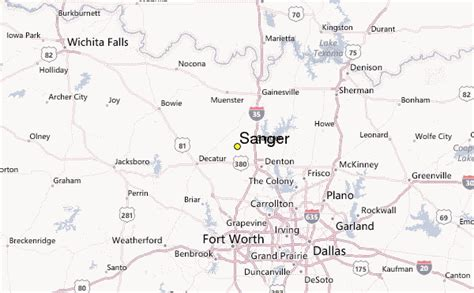 sanger texas map sanger weather station record historical weather for sanger texas