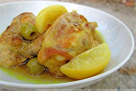 cuisine marocaine tajine poulet citrons confits