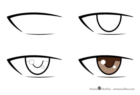 anime eyes male how to draw male anime eyes anime outline