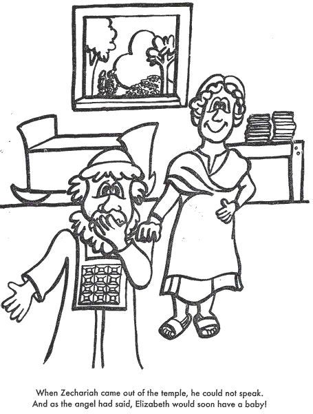 coloring pages zechariah and elizabeth 17 best images about the baptist on