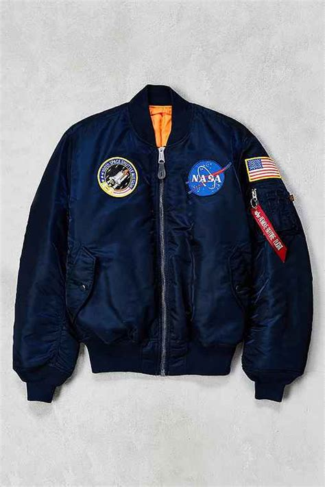 Jaket Bomber 2in1 Denim Cowok alpha industries nasa ma 1 bomber jacket outfitters