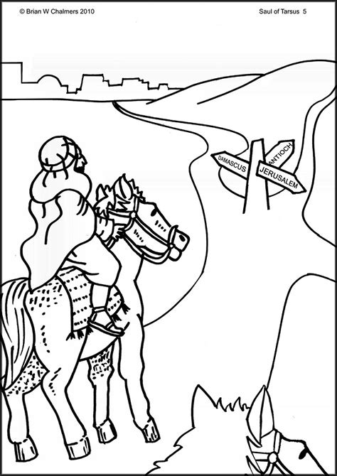 Coloring Page Converter by Conversion Of Saul Coloring Page Search Church