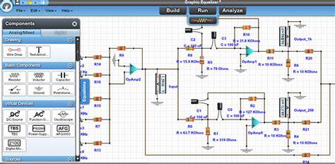 free circuit simulator circuit and schematics diagram