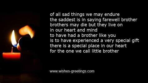comforting words for death of a brother death of brother poems and condolence messages for