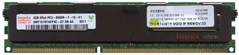 Ram Ddr3 Sun 4gb sun pc3 8500 ddr3 1066 cl7 240 pin registered ecc
