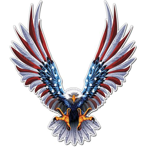 American Eagle Stickers american eagle flag wings sticker decal ships from usa car