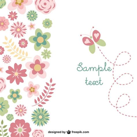 editar imagenes con vectores flowers and butterfly background vector free download