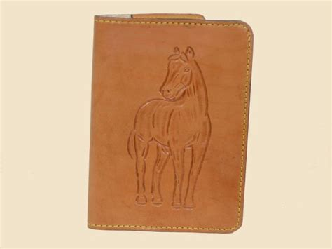 Leather Notepad Leather Cover With Hand Tooled Horse » Home Design 2017