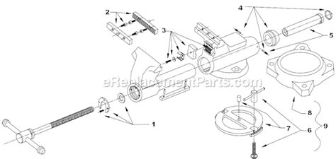 bench vise replacement parts wilton c 3 parts list and diagram before 1984