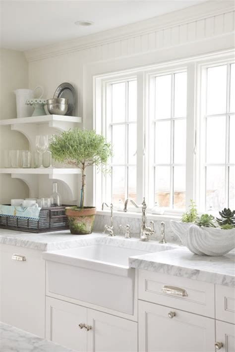 Sink White Kitchen White Apron Sink Cottage Kitchen Molly Frey Design