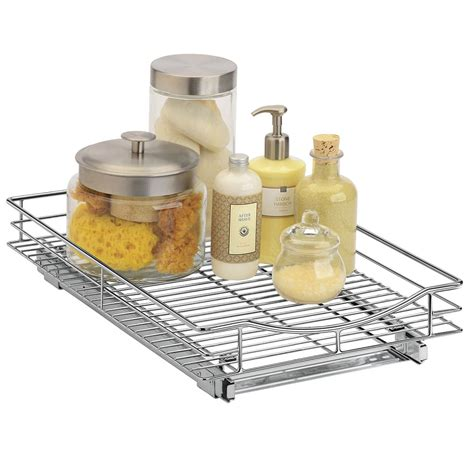 roll out cabinet organizer roll out cabinet organizer 11 inch in pull out baskets