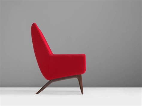 red armchair for sale danish reclining red armchair 1960s for sale at 1stdibs