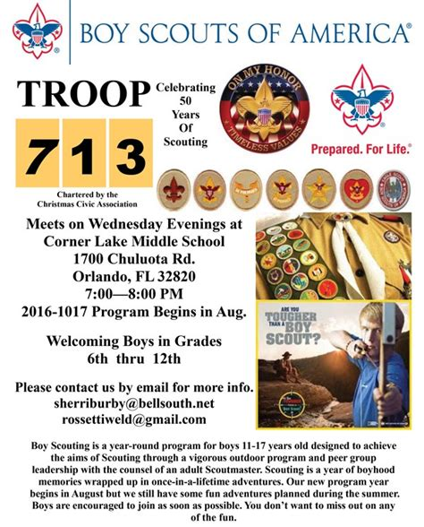 Boy Scout Troop 713 Sponsored By Christmas Civic Association Wedgefield Homeowners Association Boy Scout Troop Newsletter Template