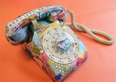 decoupage painting to whom i am speaking decoupage telephone small