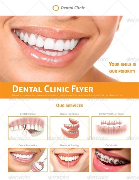 dental clinic flyer template by carlos fernando graphicriver