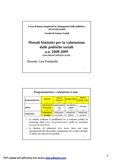 dispensa statistica dispensa di statistica metodi statistici per la