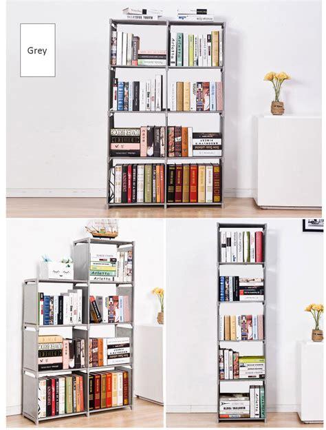 8 gird diy multilayer lightweight plastic book shelf