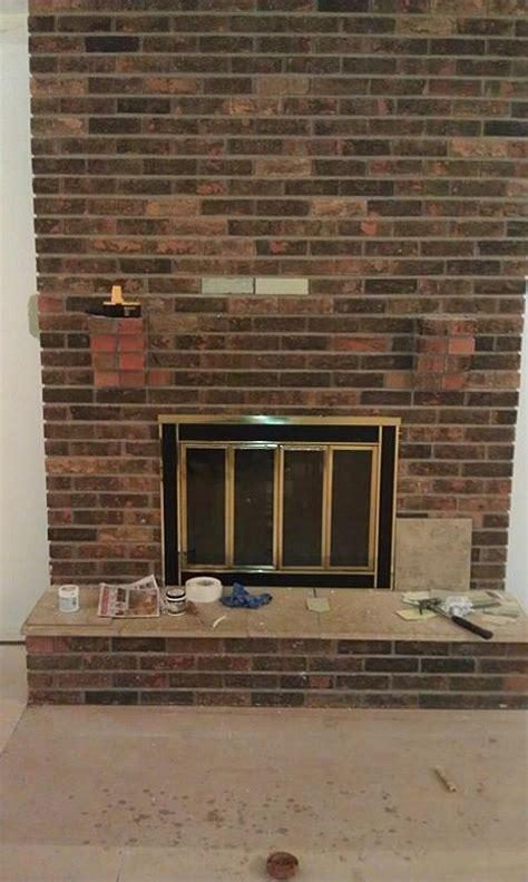 s tile brick fireplace project ceramic tile