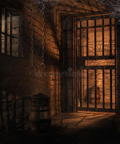 dungeon dark castle background dark cells in a dungeon stock illustration illustration