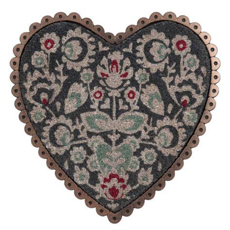 tappeti in fibra di cocco zerbino in fibra di cocco a forma di cuore 50 x 50 cm