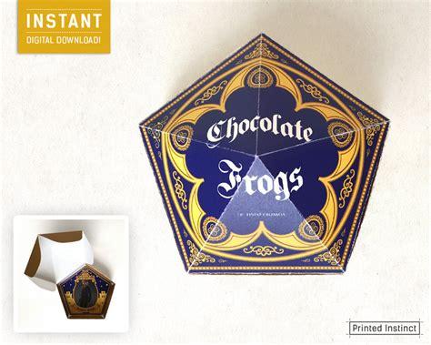 chocolate frog box template printable harry potter printable chocolate frog box template