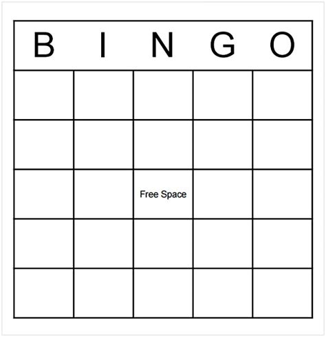 Bingo Template Word Cycling Studio Microsoft Word Bingo Template
