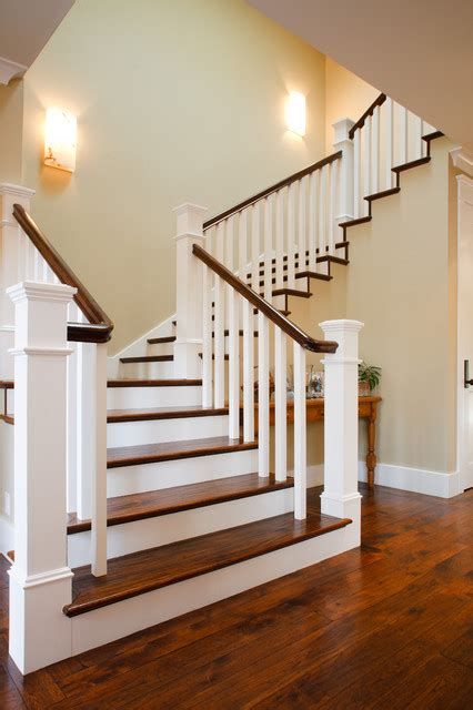 New Staircase Craftsman New Home Traditional Staircase San