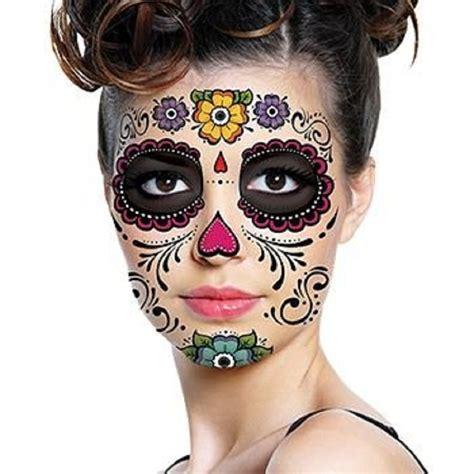 sugar skull face tattoo 1 3 5 sheets day of the dead dia de los muertos mask