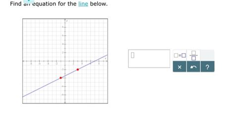 Find Line Solved Find Equation For The Line Below X Chegg