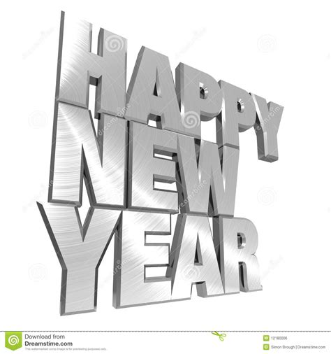 new year story text happy new year metallic text stock illustration image
