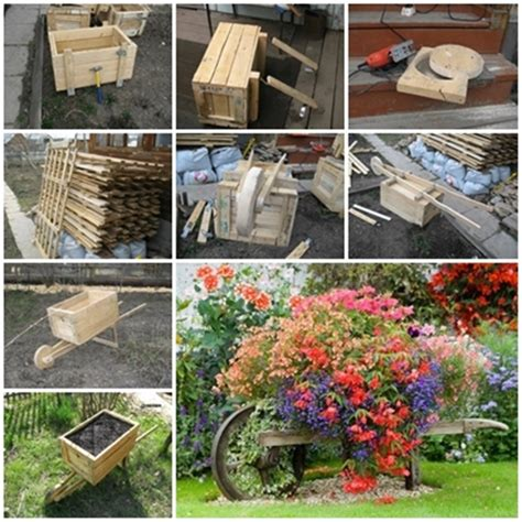 Diy Garden Planter by Wonderful Diy Rustic Wheelbarrow Garden Planter
