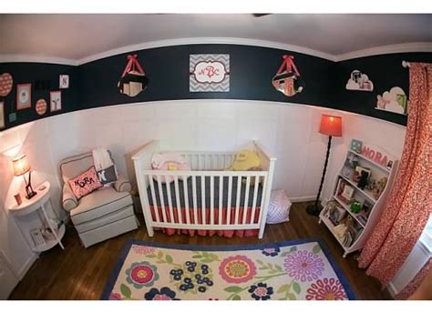 Pottery Barn Fillmore Crib by Nora S Navy Coral Nursery Project Nursery