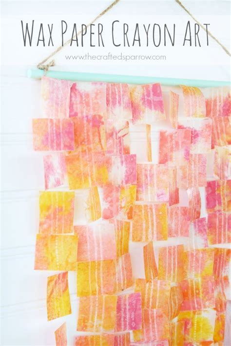 Wax Craft Paper - wax paper crayon design dazzle