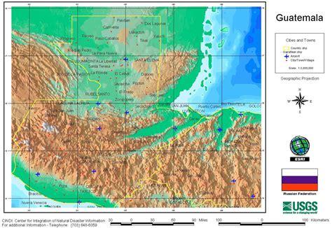 5 themes of geography guatemala guatemala geography map