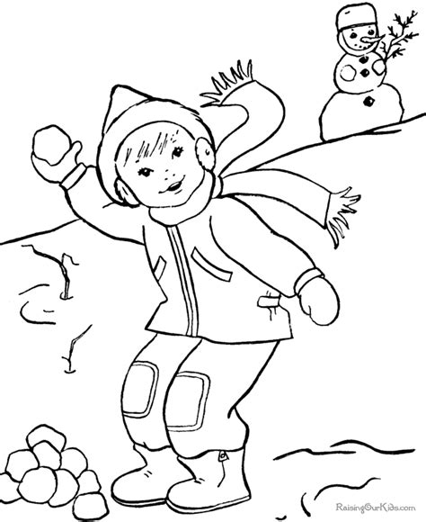 coloring pages about winter free winter color by number coloring pages