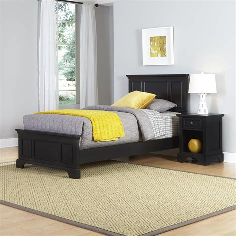 home styles bedford twin bed  night stand