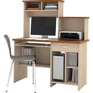 Compact Home Office Desks Bestar Active Computer Workstation Copper Cherry Maple Staples 174