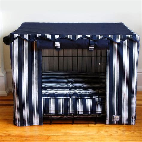 dog crate covers all pet cages nautical stripe pet crate cover small traditional