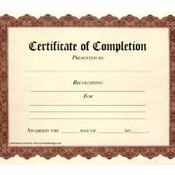 Blank Certificate Of Completion Template by Blank Certificate Of Completion Template Helloalive Free