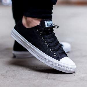 Spatu Converse All Low Black List Black converse chuck all signature ii 2 black low lunarlon shoes 150149c
