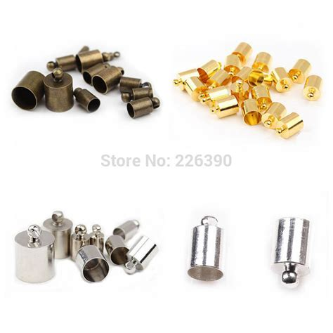 end caps for jewelry 50pc lot 5 5mm rhodium gold silver bronze necklace leather