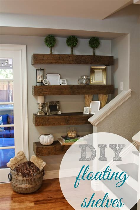 diy shelf decorations simple diy floating shelves tutorial decor ideas
