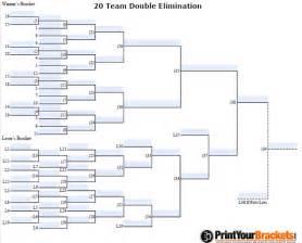 Fillable 20 man seeded tournament bracket