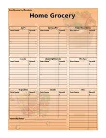 Healthy Grocery Shopping List Template Grocery List Healthy Grocery List Template For Free