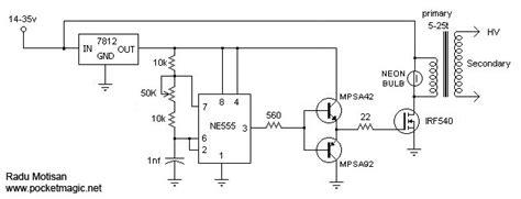 dual transistor flyback driver ultraviolet light pocketmagic