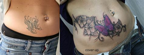 butterfly cover up tattoos butterfly flower cover up tat by 2face on deviantart